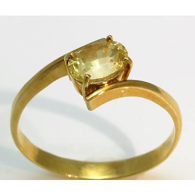 18Ct Gold Citrine Ring