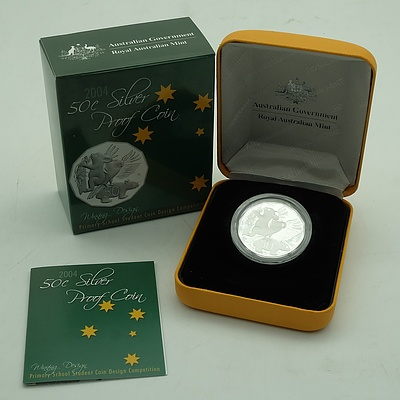 Australian 2004 Proof Silver 50 Cent Coin