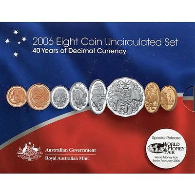 Australian 2006 8 Coin Uncirculated Set