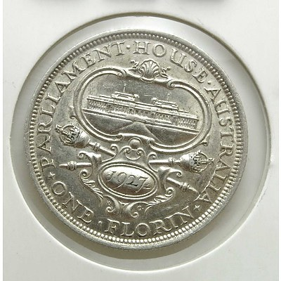 Australian Sterling Silver Canberra Florin 1927