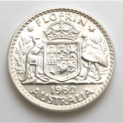 Australian Silver Florin 1962
