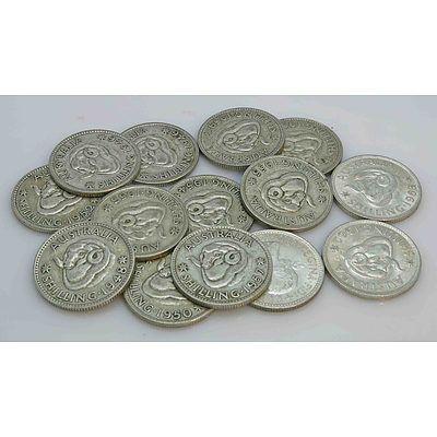 Australian Silver Shillings