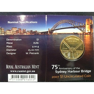 Australian Sydney Harbour Bridge One Dollar 2007