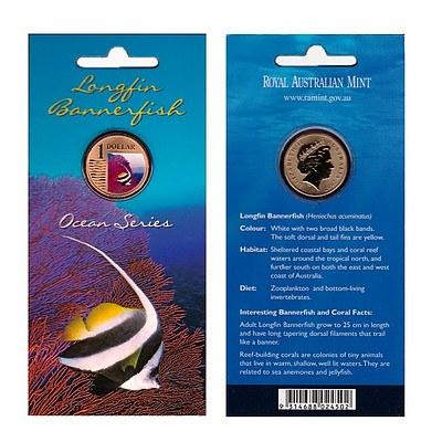 Australian 2006 Long Finned Bannerfish One Dollar