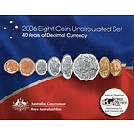 Australian 2006 8 Coin Uncirculated Set