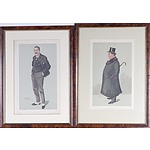 Four Victorian Vanity Fair Lithographs Circa 1880, Including Sam and Men of the Day No. 55