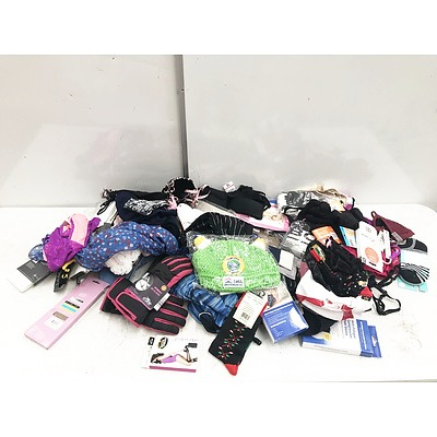 Bulk Lot of Various Fashion Accessories Including Socks and Undergarments