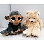 Two Large Plush Animal Toys