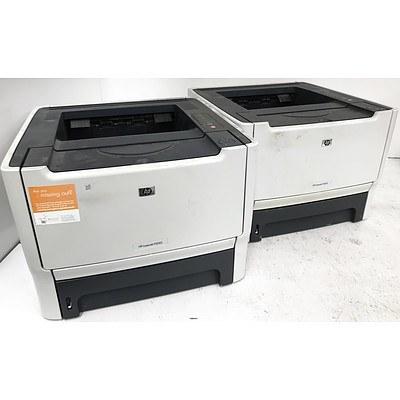 Hp LaserJet P2015 Black & White Laser Printers - Lot of 2