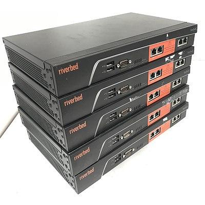 Riverbed Steelhead SHA-00250-L Network Appliances - Lot of 5