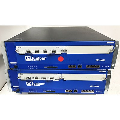 Juniper Networks NS-ISG-1000 Integrated Services Gateway - Lot of 2