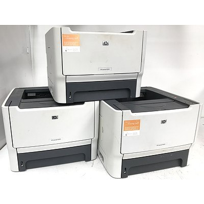 Hp LaserJet P2015 Black & White Laser Printers - Lot of 3