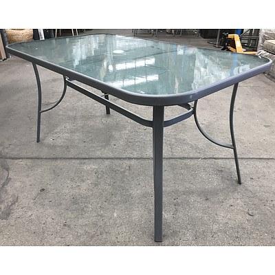 Aluminium & Glass Outdoor Table