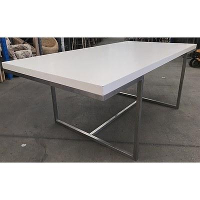 White Laminate Dining Table