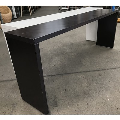 Black & White Laminate Rolling Hall Tables
