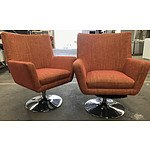 Two Auburn Retro-Style Arm Chairs