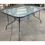 Aluminium & Glass Outdoor Table