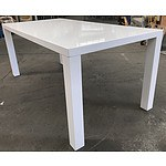 White Laminate Dining Table