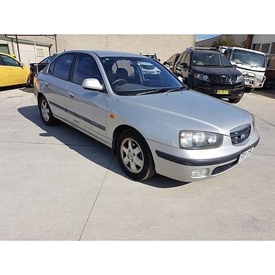 8/2001 Hyundai Elantra GLS XD 4d Sedan Silver 2.0L