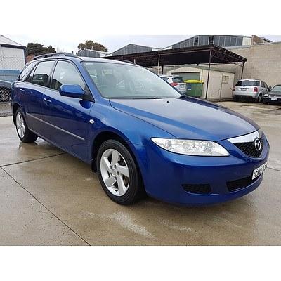 11/2003 Mazda Mazda6 Classic GY 4d Wagon Blue 2.3L