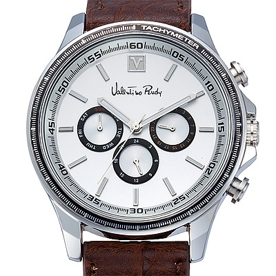 Valentino Rudy Men's watch with Chronograph Movement and Leather Band