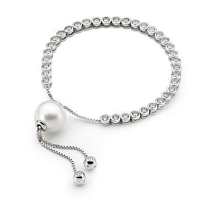 Ikecho Pearl Tennis Bracelet