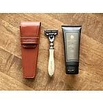 Truefitt & Hill Razor, Travel Case and Apsley Shaving Cream Valued at $258