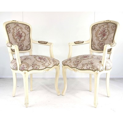 Pair of Louis Style Armchairs