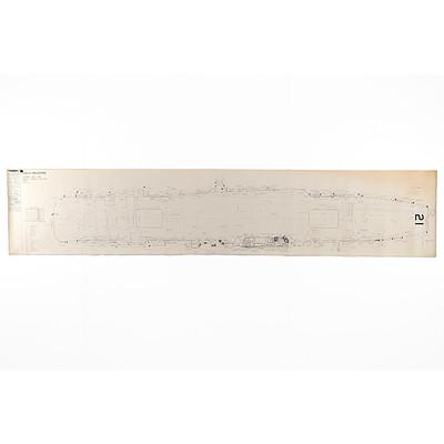 1968 HMAS Melbourne Top Deck Blueprint