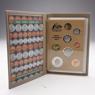 The 1991 Proof Coin Set - Commemorating 25 Years of Decimal Currency