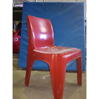 Sebel Integra Mark 2 Red Outdoor Chairs - Lot of 40+