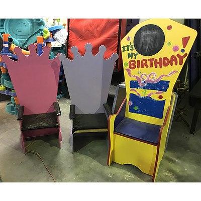 Six Children's Throne Chairs
