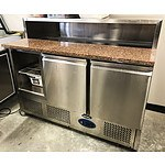 Quipwell 380 Stainless Steel & Granite Salad Fridge
