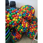 Large Bags of Coloured Plastic Balls - Lot of 8