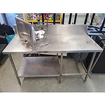 Stainless Steel Food Preparation Bench & Sink