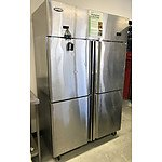 Quipwell 855Litre Stainless Steel 4-Door Freezer