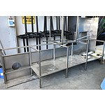 Large Corner Stainless Steel Bench with Sink