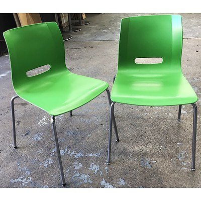 Allermuir Casper Lime Green Monoshell Chairs - Lot of 10
