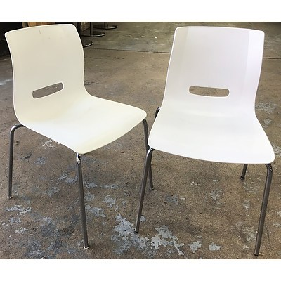 Allermuir Casper Egg White Monoshell Chairs - Lot of 12