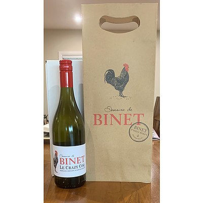 Case of Domaine de Binet Le Crazy Coq Semillon, Riesling and Giewurztraminer (white) - Valued at $168