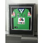 Framed 2008 Raiders Jersey signed by Jarrad Kennedy