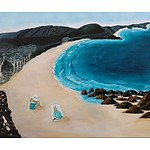 """Just for us - Mollymook beach"" - Acrylic on canvas by Roslyn Hughes - RRP $3000"