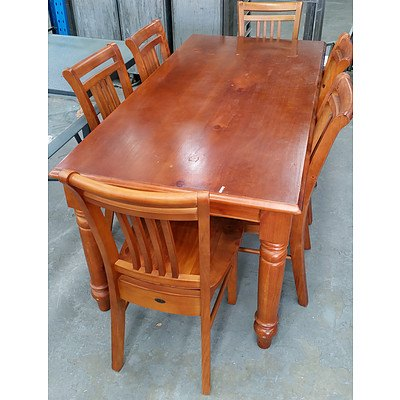 Balmoral Seven Piece Maple Dining Setting