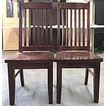 Six Walnut Dining Chairs