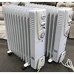 Two Heller 2400w Column Oil Heaters