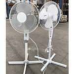 Two Oscillating Pedestal Fans