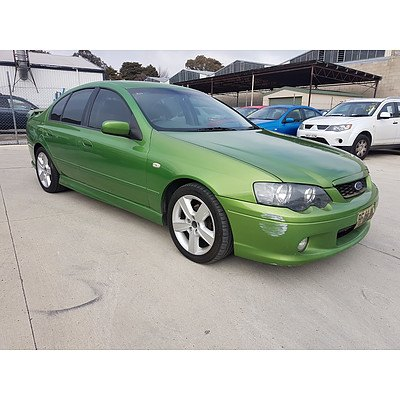 7/2004 Ford Falcon XR6 BA 4d Sedan Green 4 0L