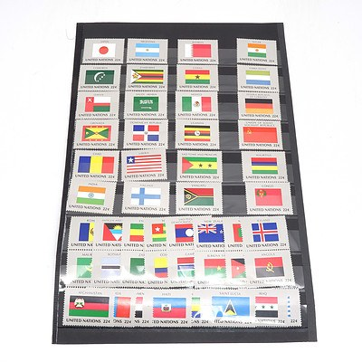 United Nations World Flag Stamps