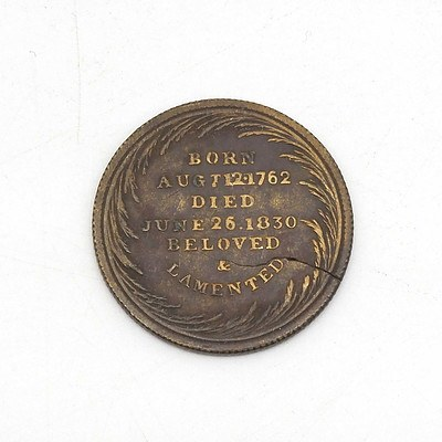 1830 King George Memorial Coin
