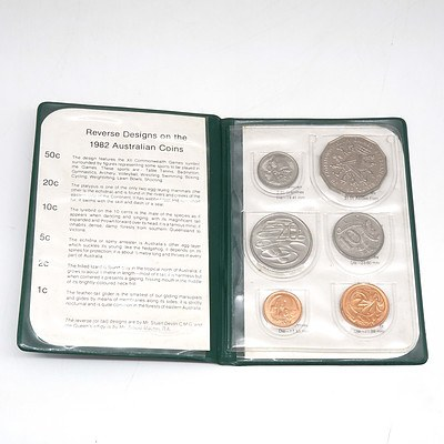 1982 Commonwealth Games Brisbane Mint Six Coin Set